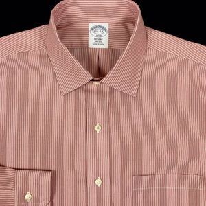Brooks Brothers Mens Red Striped Button Front